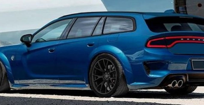 2020 Dodge Charger Hellcat Widebody Wagon Rendered As