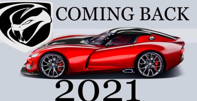 2020 Dodge Viper Concept Car Review Car Review
